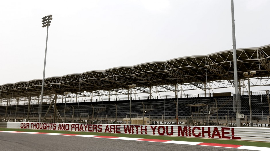 Michael Schumacher tribute, Bahrain, 2014