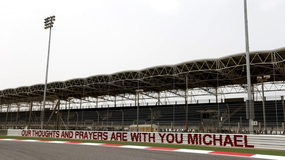 Michael Schumacher tribute, Bahrain, 2014