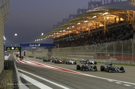 Start, Bahrain International Circuit, 2014