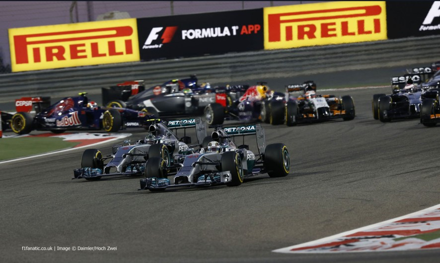 Start, Bahrain Grand Prix, 2014