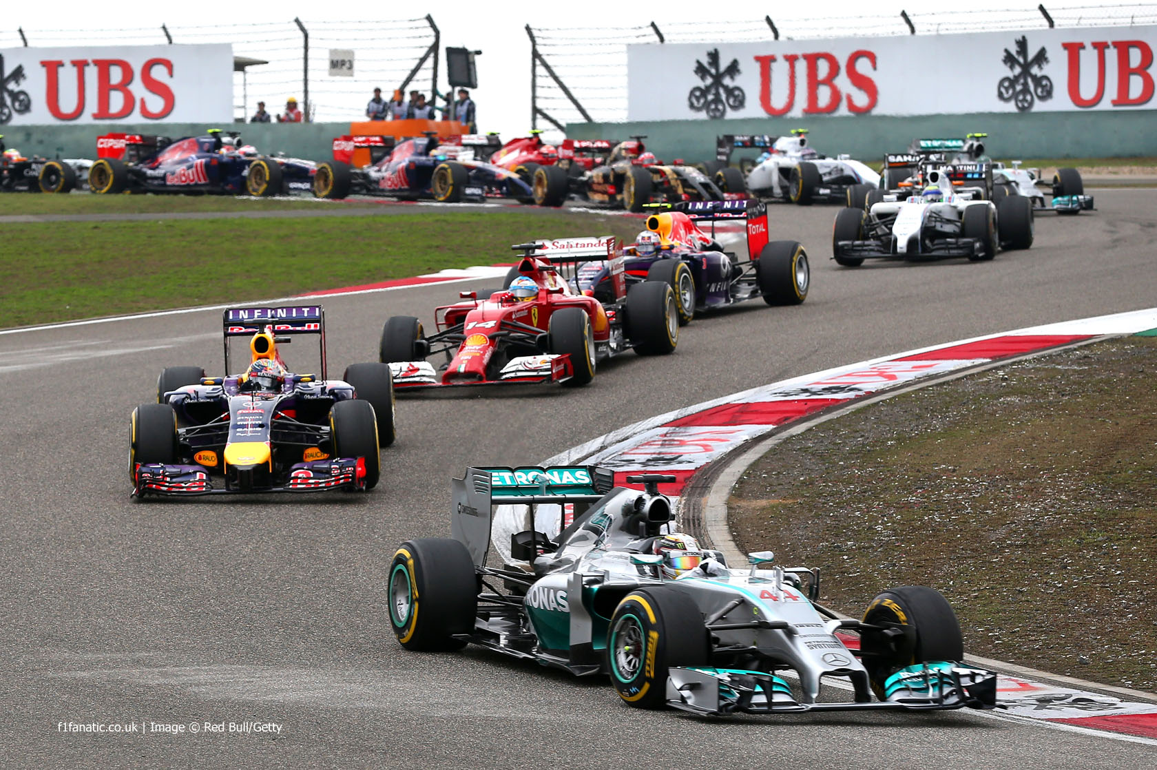 Start, Shanghai International Circuit, 2014
