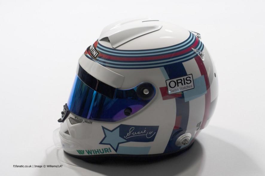 Susie Wolff, Williams, helmet, 2014