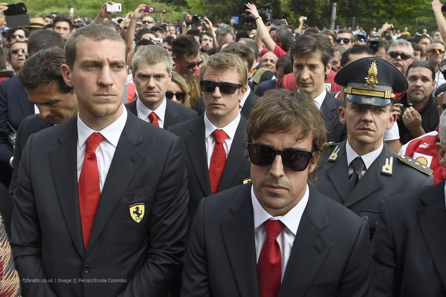Fernando Alonso, Kimi Raikkonen, Imola, 2014