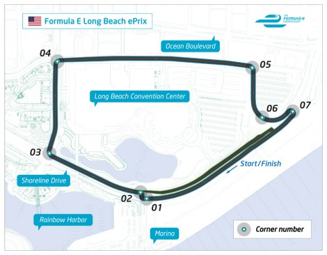 Long Beach Formula E circuit