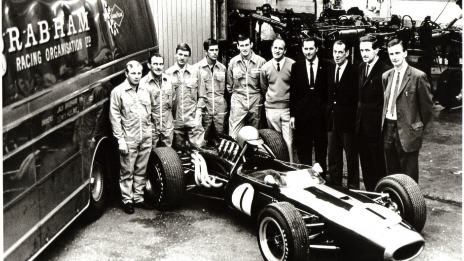 Jack Brabham and team, 1966-67