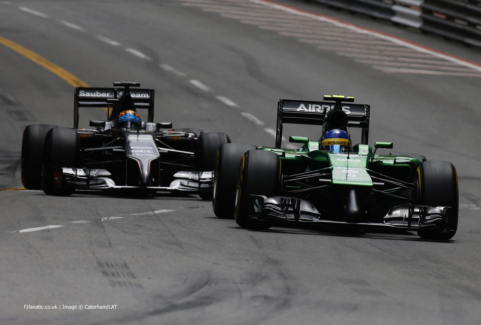 Marcus Ericsson, Caterham, Monte-Carlo, 2014