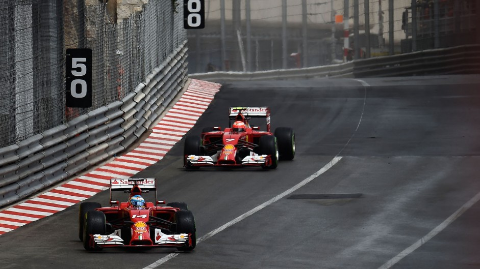 Fernando Alonso, Kimi Raikkonen, Ferrari, Monte-Carlo, 2014