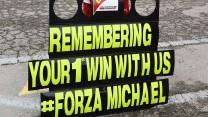 Ferrari tribute to Michael Schumacher, Circuit de Catalunya, 2014