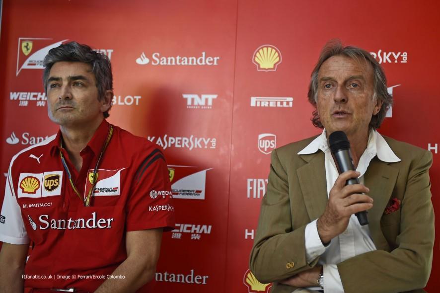 Marco Mattiacci, Luca di Montezemolo, Ferrari, Circuit de Catalunya, 2014