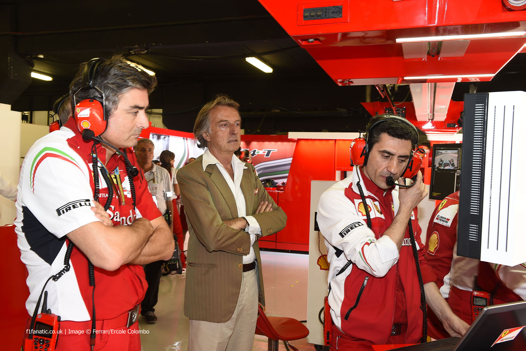 Marco Mattiacci, Luca di Montezemolo, Fernando Alonso, Ferrari, Circuit de Catalunya, 2014