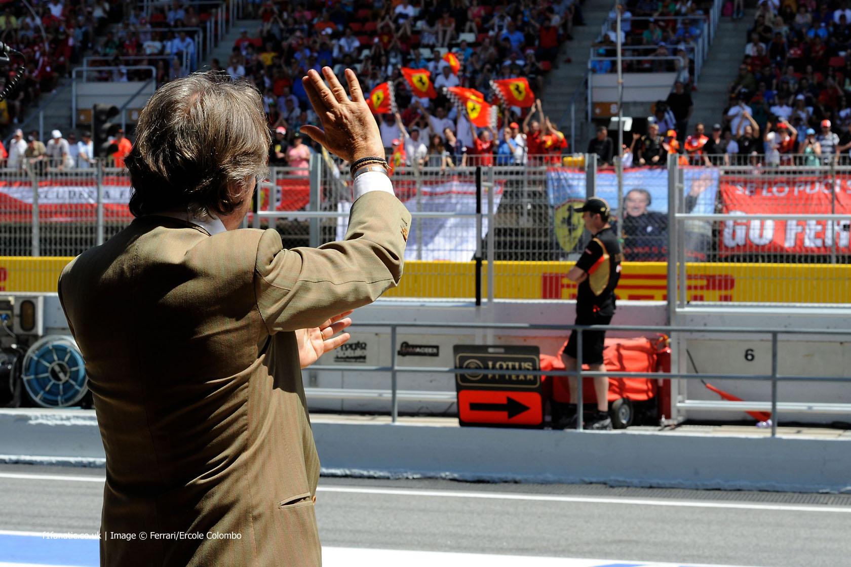 Luca di Montezemolo, Ferrari, Circuit de Catalunya, 2014