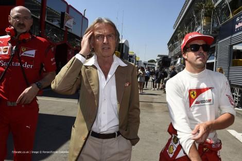 Luca di Montezemolo, Fernando Alonso, Ferrari, Circuit de Catalunya, 2014