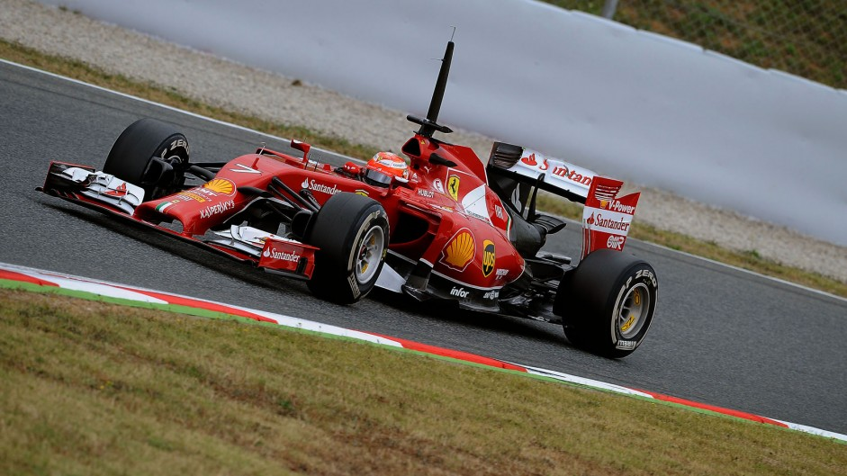 Kimi Raikkonen, Ferrari, Circuit de Catalunya, 2014