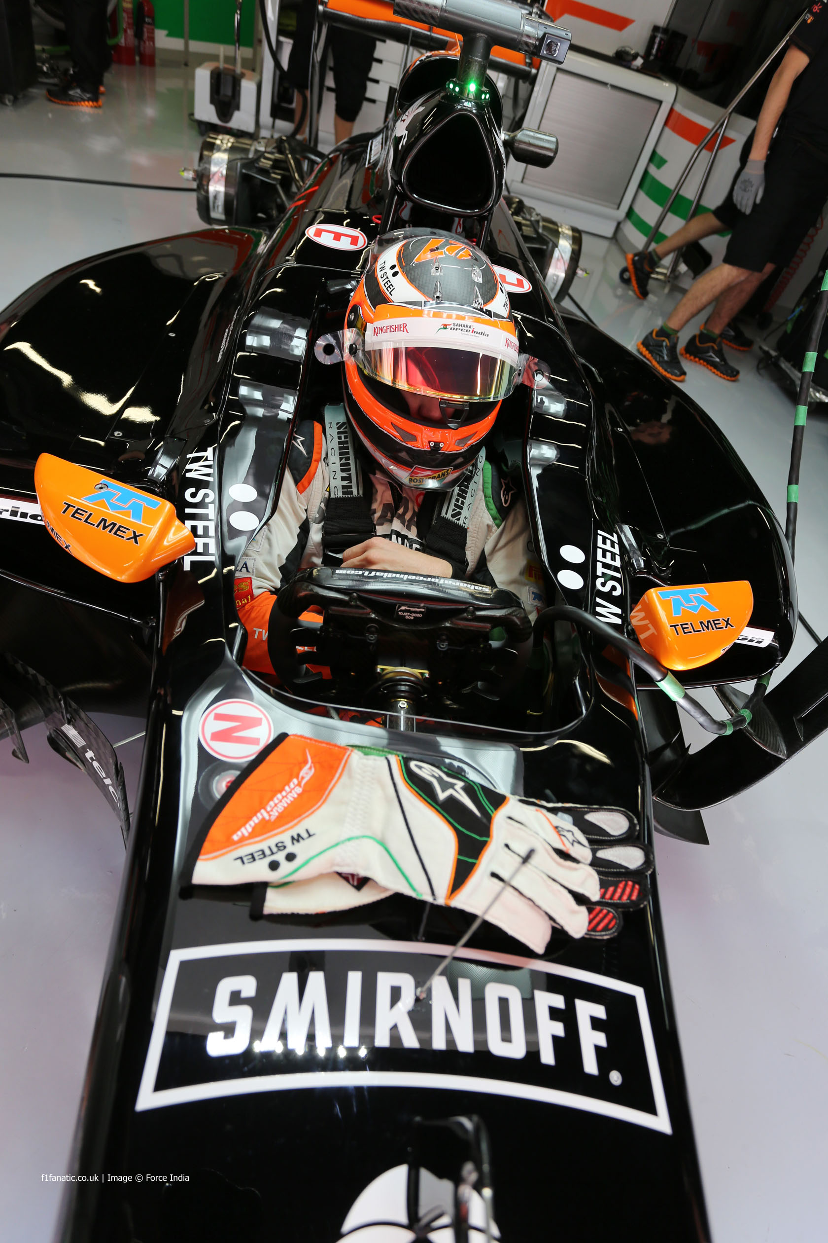 Nico Hulkenberg, Force India, Circuit de Catalunya, 2014