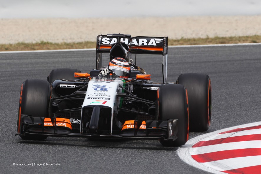 Nico Hulkenberg, Force India, Circuit de Catalunya, 2014