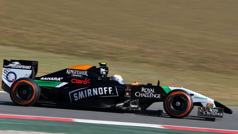 Daniel Juncadella, Force India, Circuit de Catalunya, 2014