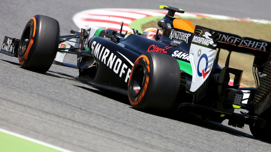 Daniel Juncadella, Force India, Circuit de Catalunya, 2014