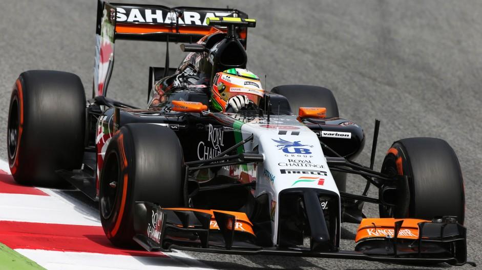 Sergio Perez, Force India, Circuit de Catalunya, 2014