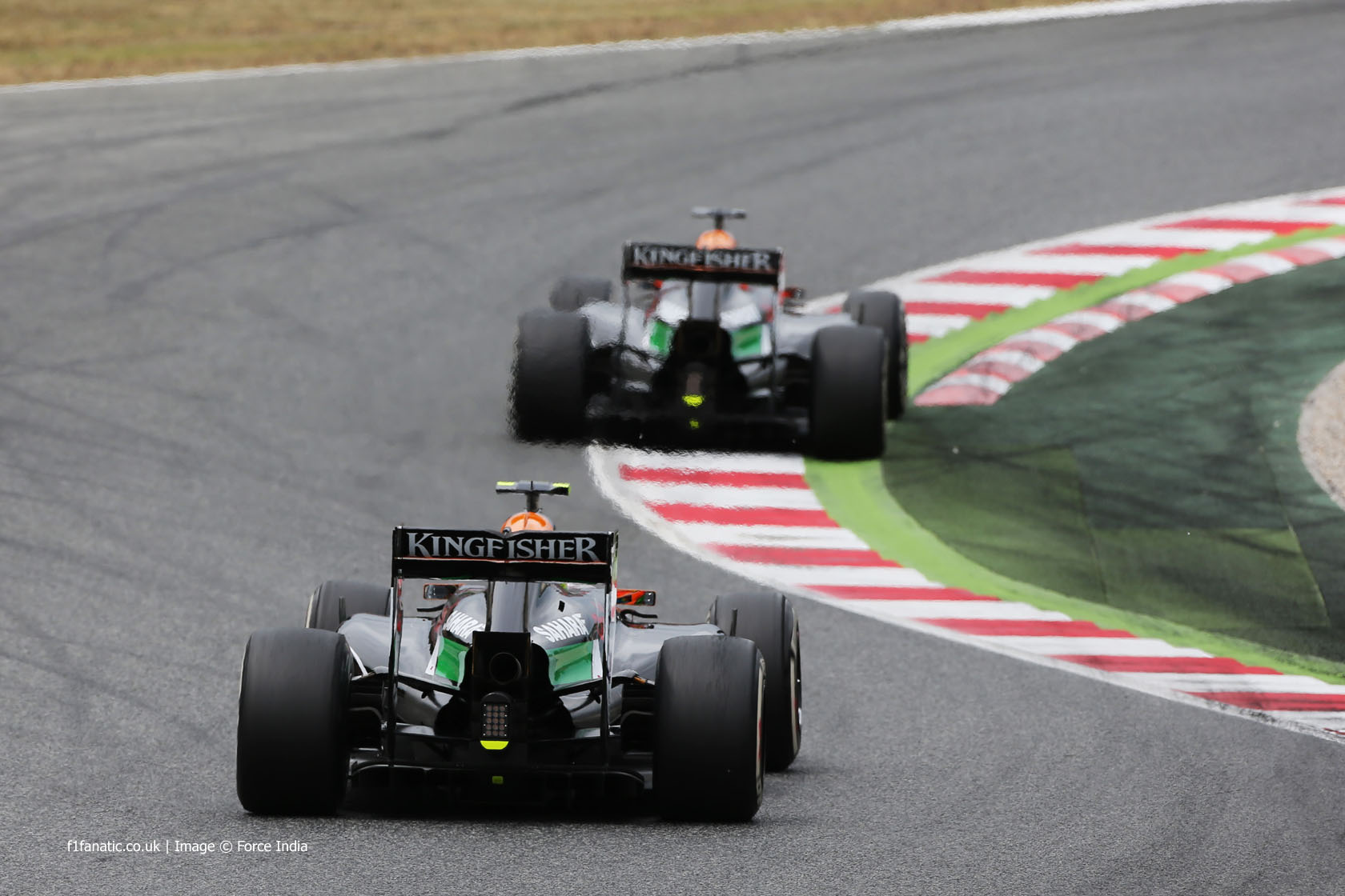 Sergio Perez, Force India, Circuit de Catalunya, 2014
