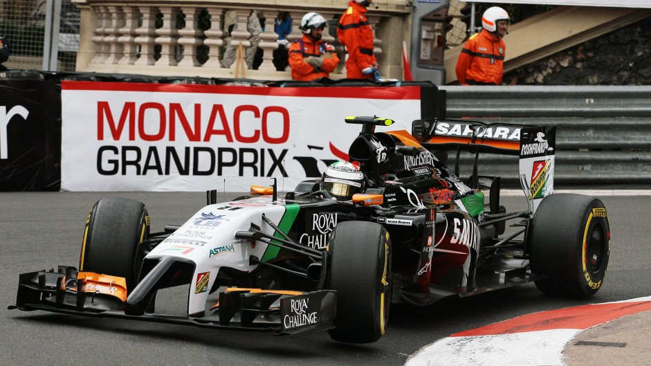 Sergio Perez, Force India, Monte-Carlo, 2014