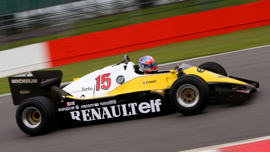 Romain Grosjean, Renault RE40, Silverstone, 2014