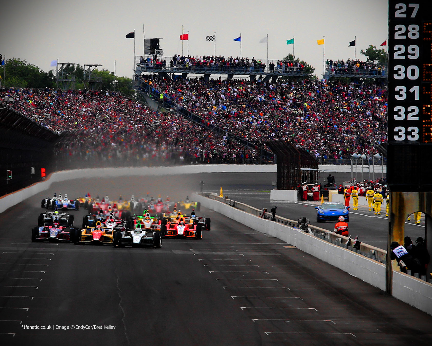 Start, Indianapolis 500, 2013