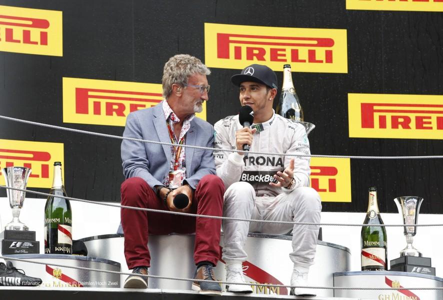 Eddie Jordan, Lewis Hamilton, Circuit de Catalunya, 2014