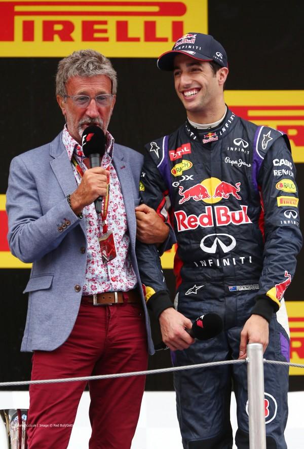 Eddie Jordan, Daniel Ricciardo, Circuit de Catalunya, 2014