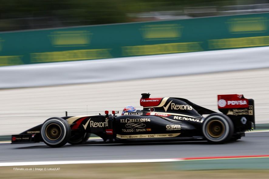 Romain Grosjean, Lotus, Circuit de Catalunya, 2014