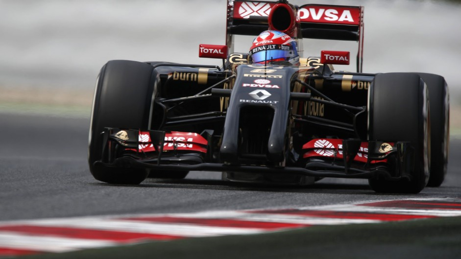 Romain Grosjean, Lotus, Circuit de Catalunya, 2014