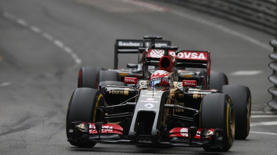 Romain Grosjean, Lotus, Monte-Carlo, 2014