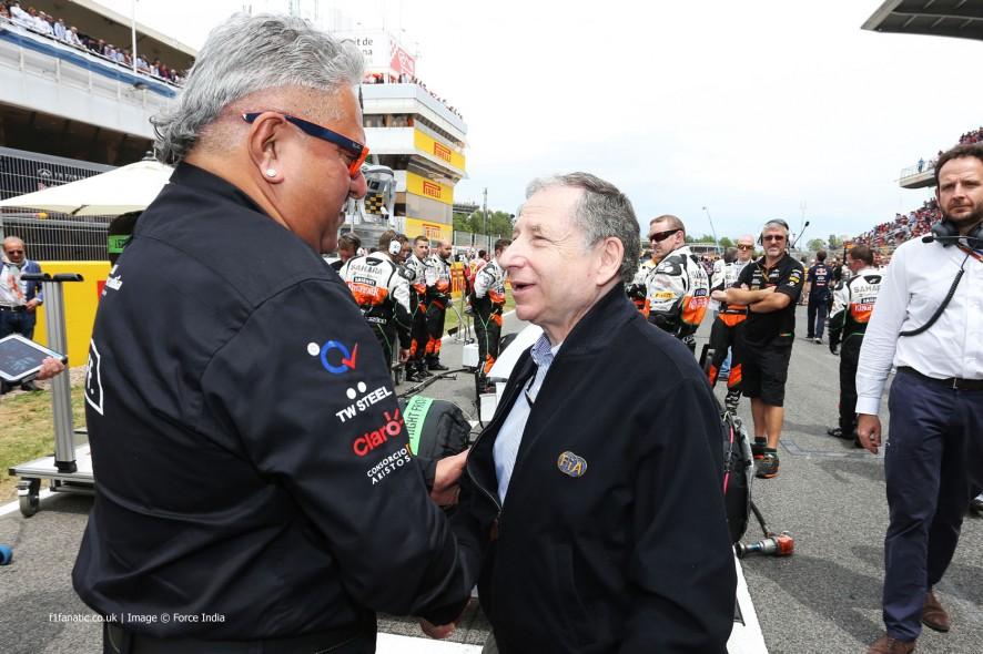 Vijay Mallya, Jean Todt, Circuit de Catalunya, 2014