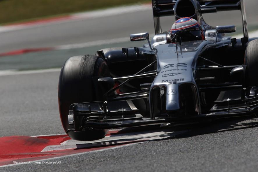 Jenson Button, McLaren, Circuit de Catalunya, 2014