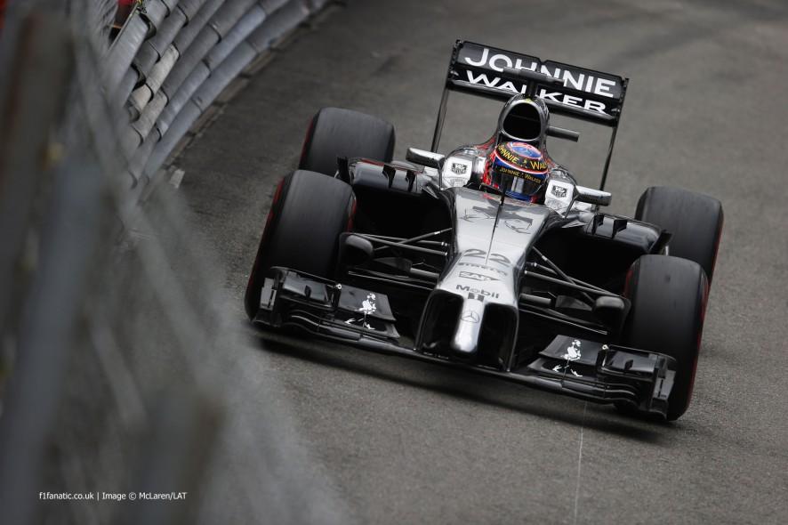 Jenson Button, McLaren, Monte-Carlo, 2014