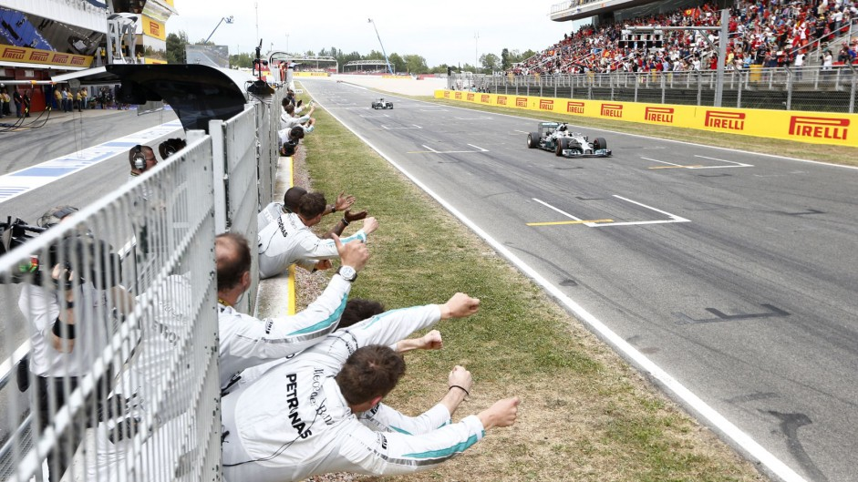 Hamilton nears clean sweep with first Spanish win