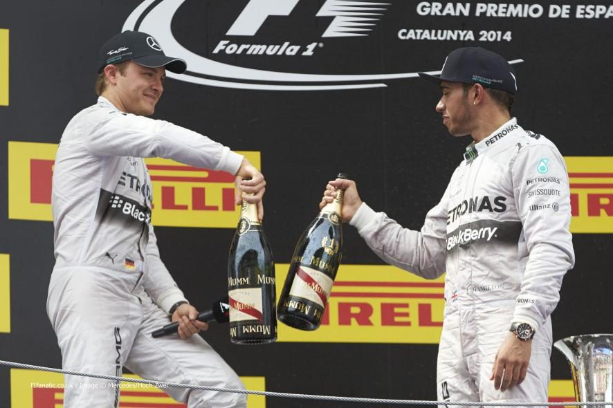 Nico Rosberg, Lewis Hamilton, Mercedes, Circuit de Catalunya, 2014