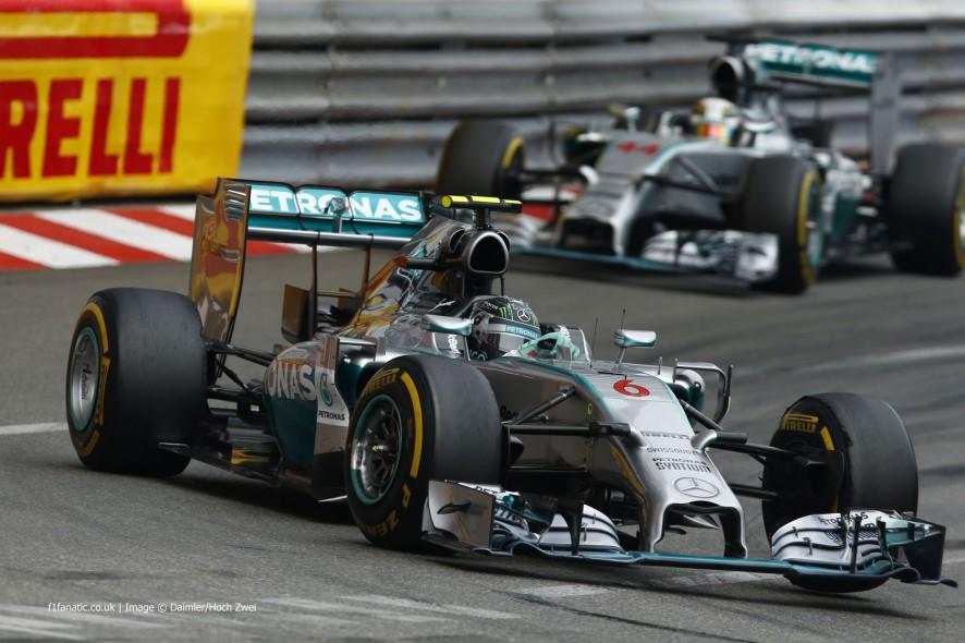 Nico Rosberg, Mercedes, Monte-Carlo, 2014