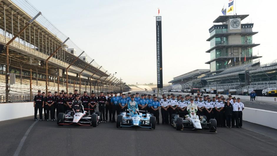 Will Power, James Hinchcliffe, Ed Carpenter, Indianapolis, 2014