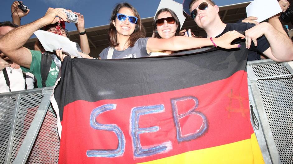 Sebastian Vettel fans, Red Bull, Circuit de Catalunya, 2014