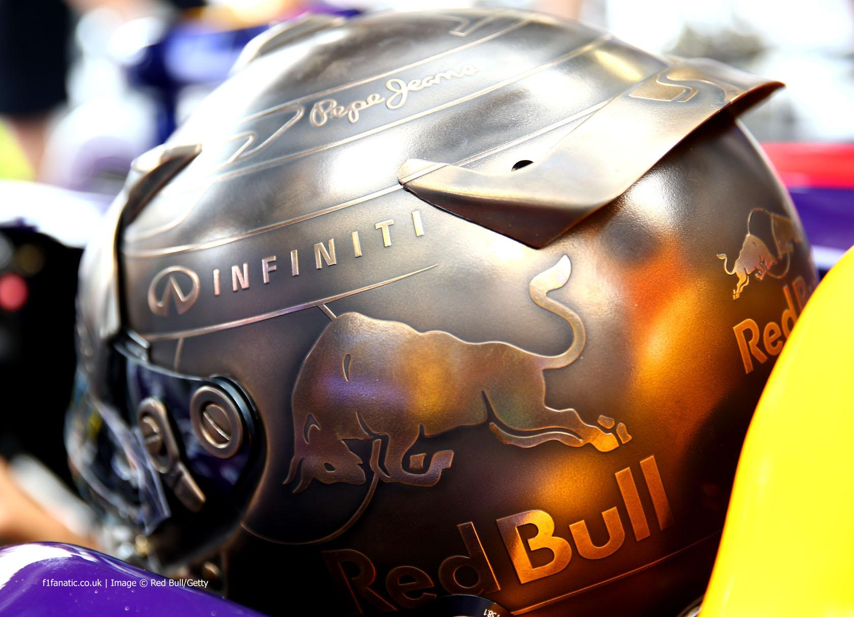 Sebastian Vettel helmet, Red Bull, Monte-Carlo, 2014