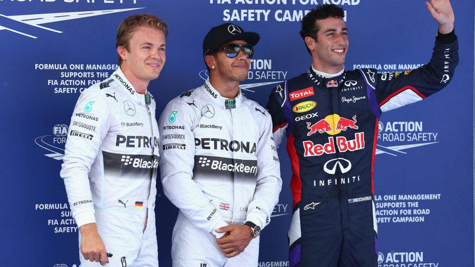 Nico Rosberg, Lewis Hamilton, Daniel Ricciardo, Red Bull, Circuit de Catalunya, 2014