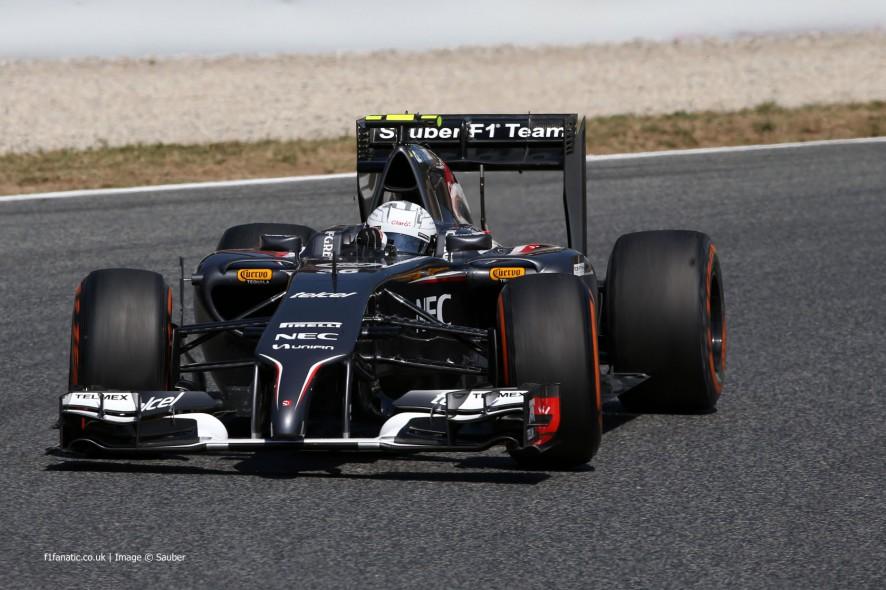 Giedo van der Garde, Sauber, Circuit de Catalunya, 2014