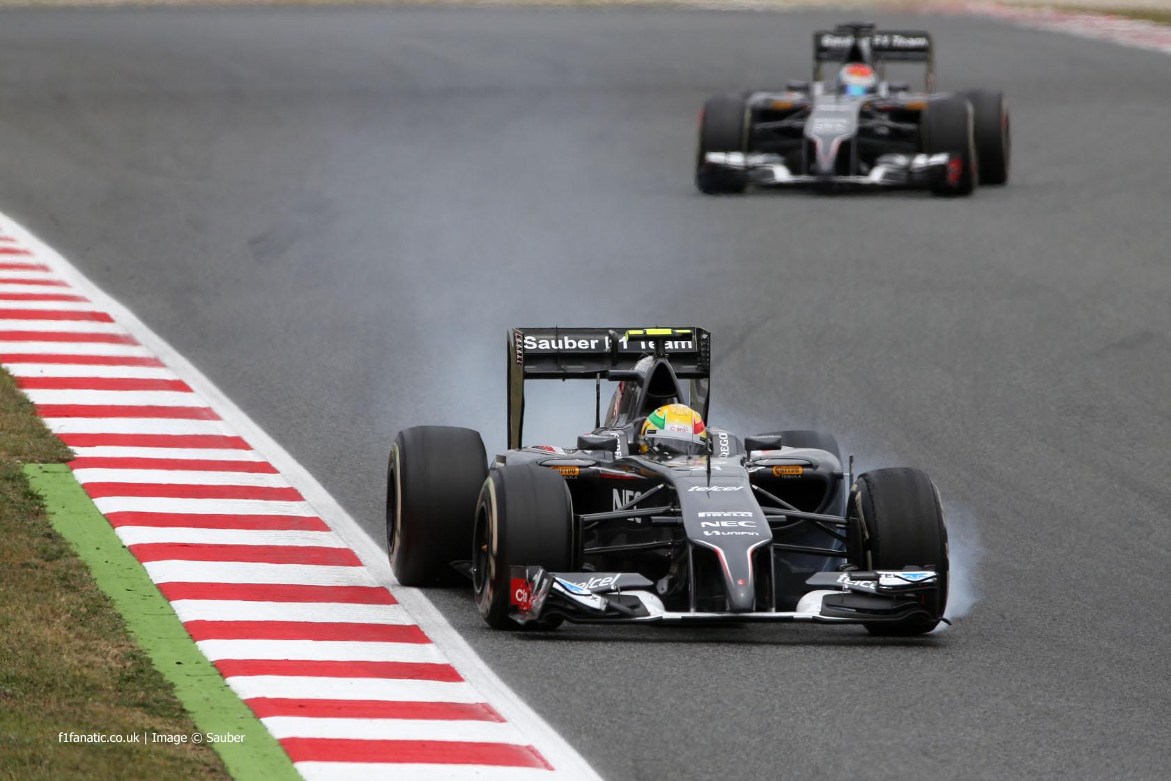 Esteban Gutierrez, Sauber, Circuit de Catalunya, 2014