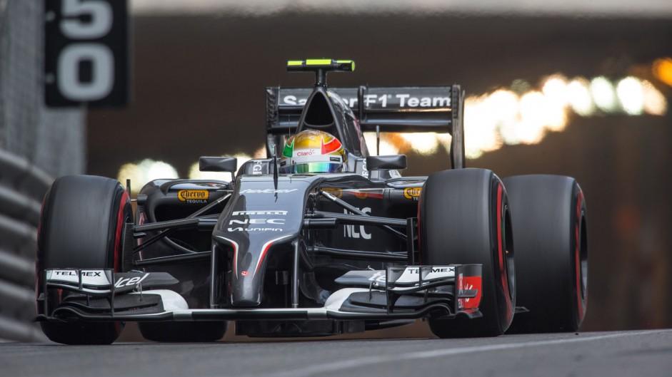 Esteban Gutierrez, Sauber, Monte-Carlo, 2014