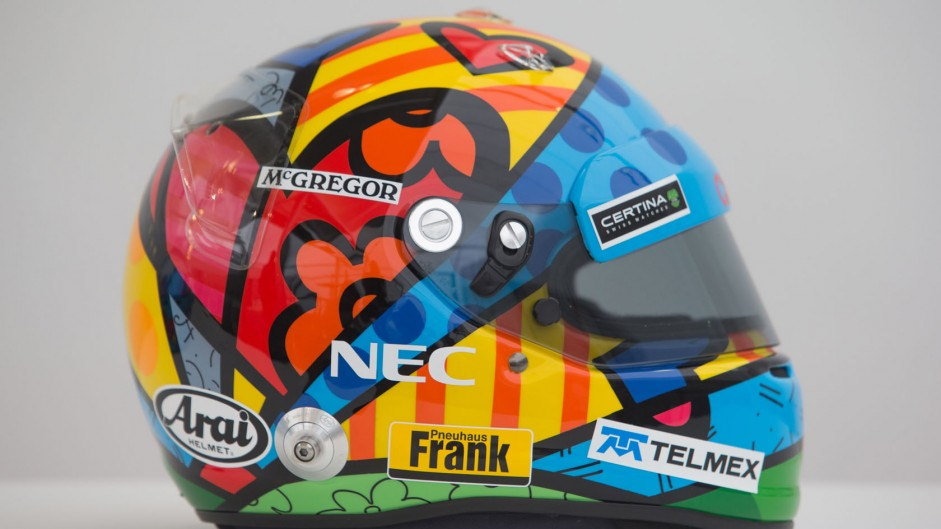 Drivers sport special helmets for Monaco weekend