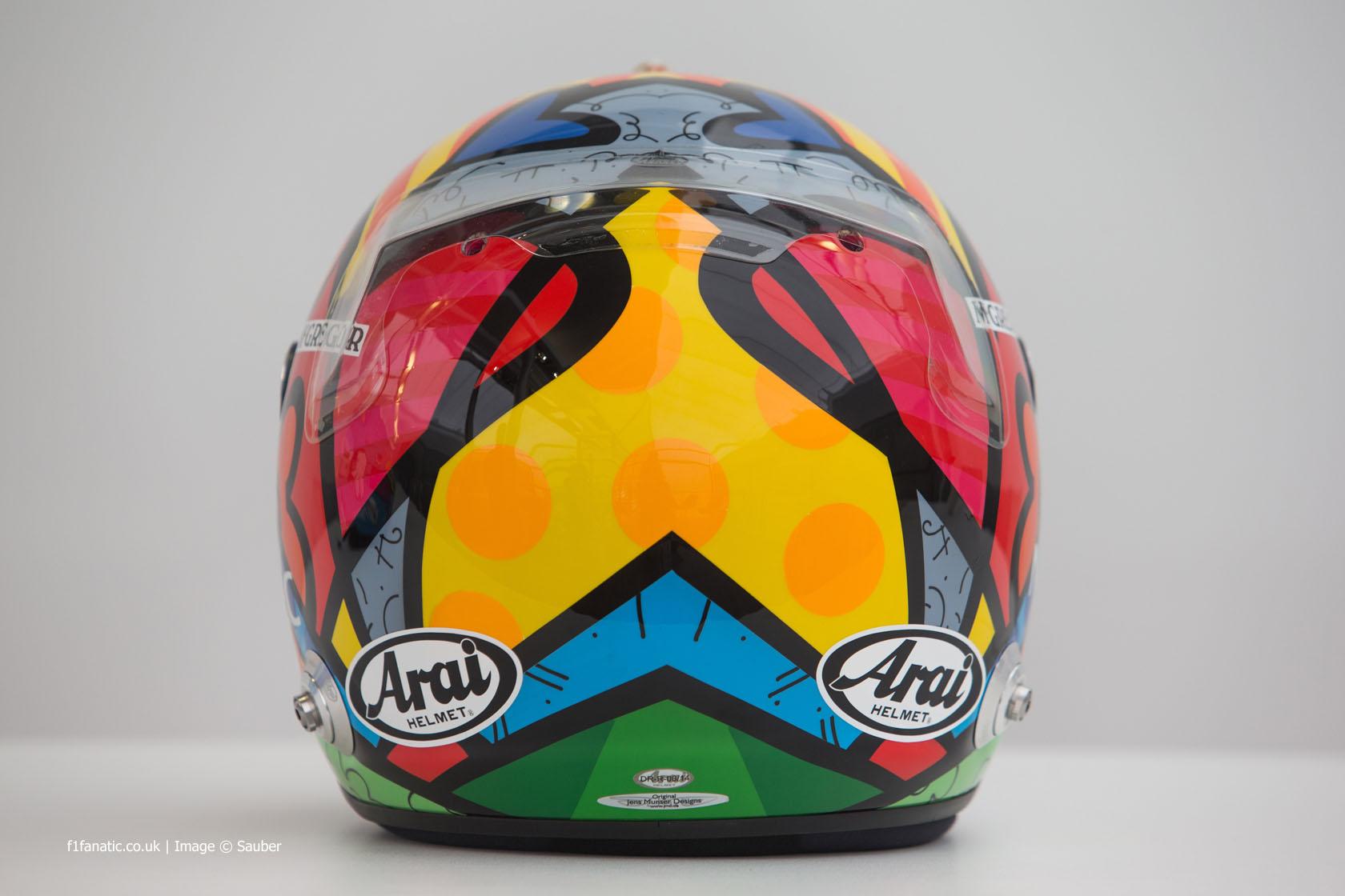 Adrian Sutil helmet, Sauber, Monte-Carlo, 2014