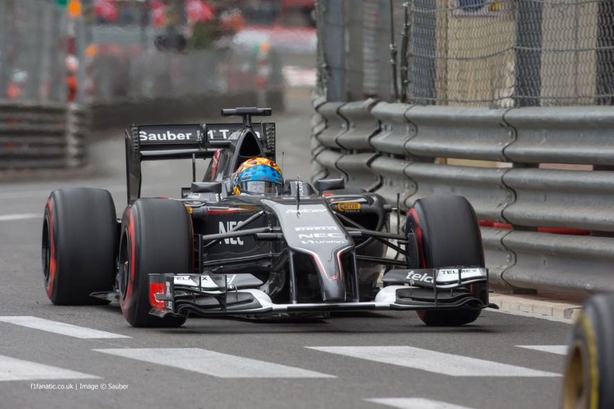 Adrian Sutil, Sauber, Monte-Carlo, 2014