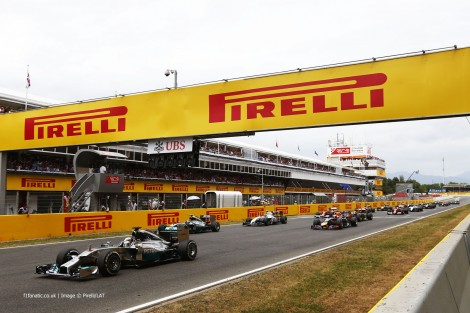 Start, Circuit de Catalunya, 2014