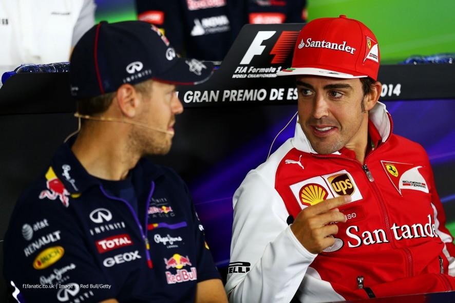 Sebastian Vettel, Fernando Alonso, Circuit de Catalunya, 2014
