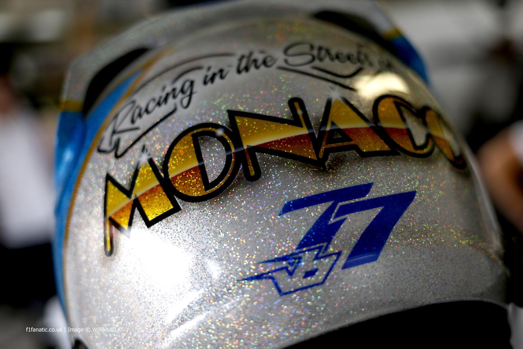 Valtteri Bottas helmet, Williams, Monte-Carlo, 2014